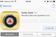 Paradox új Insite Gold alkalmazás és szolgáltatásai