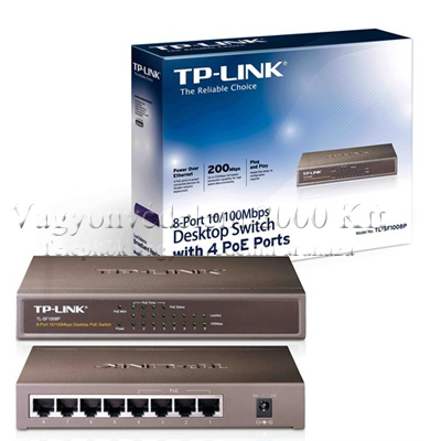 TP-LINK TL-SF1008P 10/100Mbps 8 portos POE(4) switch